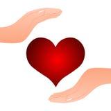 Serce w ręce Zdjęcia Royalty Free