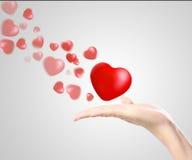 Serce w rękach Obraz Stock