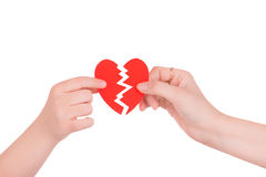 Serce w rękach dwa ludzie Obrazy Stock