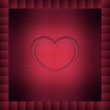 Serce w zmroku - czerwień Obrazy Stock