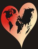 serce świat Zdjęcie Royalty Free