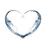 Serce wod pluśnięcia na białym tle Fotografia Royalty Free