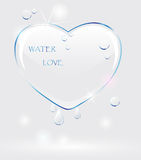 serce woda Obrazy Stock