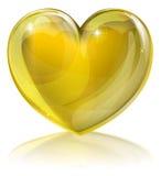 Serce złoto Fotografia Stock