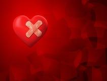 Serce z łatą Zdjęcia Stock
