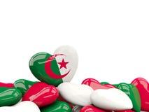 Serce z flaga Algeria ilustracja wektor