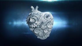 Serce z płodozmiennymi metal przekładniami ilustracja wektor