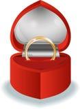 Serce z pierścionkiem Obraz Royalty Free