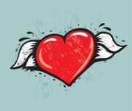 Serce z skrzydłami ilustracja wektor