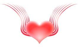 Serce z skrzydłami Obraz Royalty Free