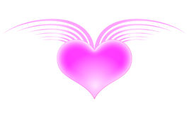 Serce z skrzydłami Obrazy Royalty Free