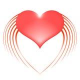 Serce z skrzydłami Fotografia Royalty Free