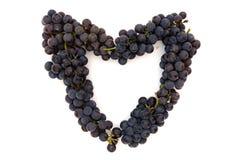 serce z winogron Zdjęcie Stock