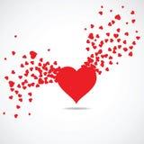 Serce z wybuchu skutkiem Obrazy Stock