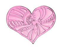 Serce z wzorami Obraz Stock