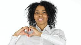 Serce znak Afro amerykanina kobietą Obrazy Stock