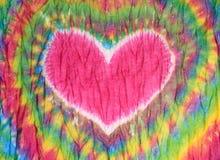 Serce znaka krawat farbujący deseniowy tło Zdjęcia Royalty Free