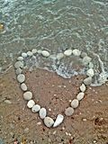 serce zrobił kamieniom Zdjęcie Royalty Free