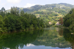 Serchio river, Tuscany (Italy) Royalty Free Stock Photo