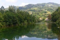 Serchio river, Tuscany (Italy) Royalty Free Stock Photo