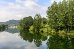 Serchio river, Tuscany (Italy) Stock Image