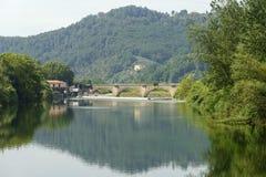 Serchio river, Tuscany (Italy) Stock Photos