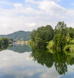 Serchio river, Tuscany (Italy) Royalty Free Stock Image
