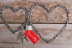 Sercowaty łańcuch, kędziorek i klucze, Fotografia Stock