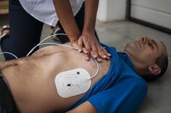 Sercowy masaż Obrazy Stock