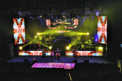 Serdar Ortac Show. Serdar Ortac concert in Harbiye open theather Royalty Free Stock Photos