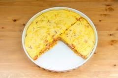 Serdecznie gotujący tarta ptysiowy ciasto Obrazy Stock