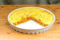 Serdecznie gotujący tort ptysiowy ciasto Fotografia Stock