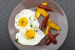 Serdecznie śniadanie jajka Zdjęcie Royalty Free