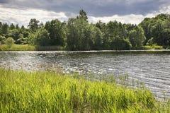 Serdovo lake.  Summer. landscape. Belarus Royalty Free Stock Photography