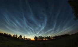 Serebrtsty clouds. Stock Photo