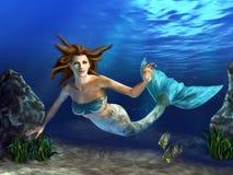 Sereia da natação ilustração stock