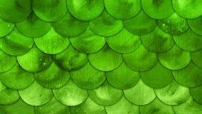 A sereia escala o fundo do Grunge do verde do squame dos peixes da aquarela ilustração stock