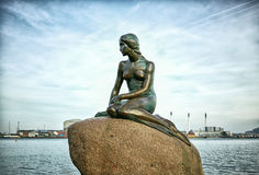 Sereia pequena, Copenhaga, Dinamarca Imagem de Stock Royalty Free