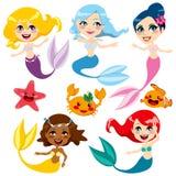 Sereias coloridas bonitos Imagem de Stock Royalty Free