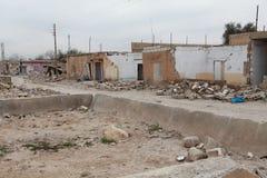 SYRISCHE ARMEE BOMBARDIERTES SEREKANIYE. Lizenzfreie Stockfotografie