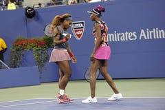 Serena & Venus Williams ΗΠΑ 2013 στοκ φωτογραφία με δικαίωμα ελεύθερης χρήσης