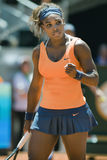Serena Williams in action during the Madrid Mutua tennis Open Stock Images