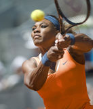 Serena Williams in action during the Madrid Mutua tennis Open Royalty Free Stock Photo