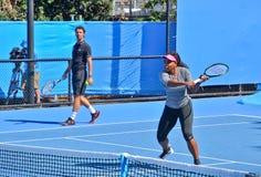Serena Williams bawić się w australianie open Obraz Royalty Free