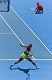Serena Williams bawić się w australianie open Zdjęcia Royalty Free