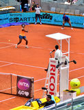 Serena Williams bij WTA Mutua Open Madrid Stock Afbeelding