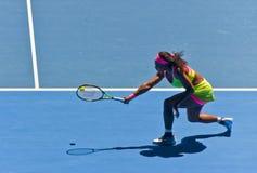Serena Williams, der auf die Australian Open spielt lizenzfreies stockfoto
