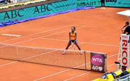 Serena Williams på WTAEN Mutua öppna Madrid Arkivbild