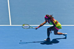 Serena Williams playing in the Australian Open Royalty Free Stock Photo
