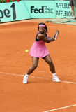 Serena Williams plays at Rolan Royalty Free Stock Image